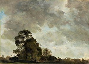 Reproduction oil paintings - John Constable - Landscape at Hampstead, Tree and Storm Clouds, c.1821