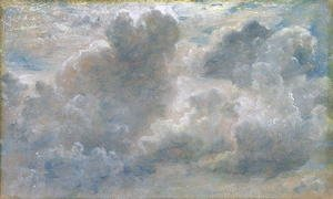 Reproduction oil paintings - John Constable - Study of Cumulus Clouds, 1822 (2)