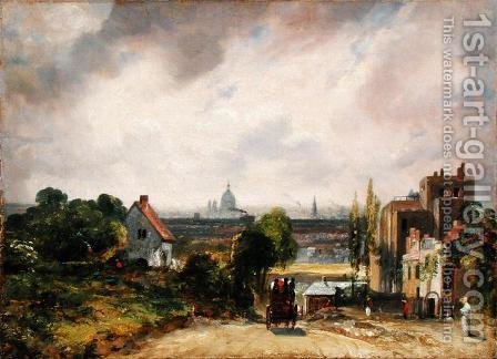 John Constable: Sir Richard Steele's Cottage, Hampstead, c.1832 - reproduction oil painting