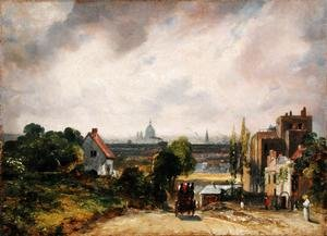 Reproduction oil paintings - John Constable - Sir Richard Steele's Cottage, Hampstead, c.1832