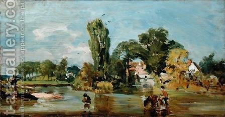 John Constable: Flatford Mill, c.1810-11 - reproduction oil painting