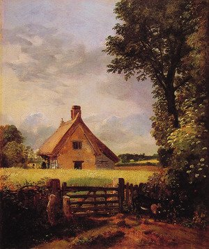 Famous paintings of Villages: A Cottage in a Cornfield, 1817