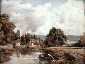 Famous paintings of Ports: Harnham Church, near Salisbury, 1820