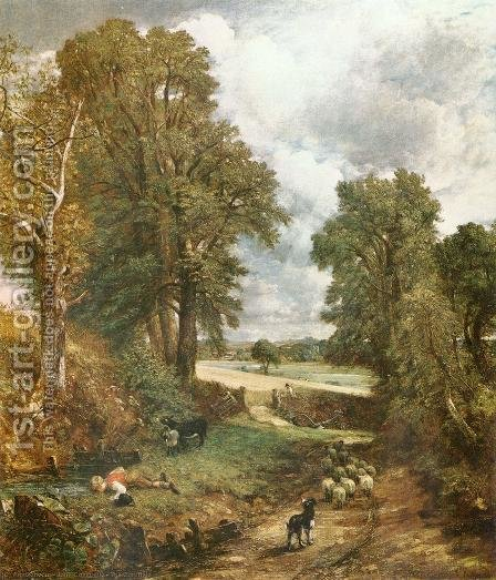 John Constable: The Cornfield, 1826 - reproduction oil painting