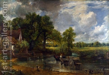 John Constable: The Hay Wain, 1821 - reproduction oil painting