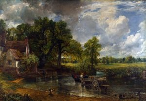 Famous paintings of Trees: The Hay Wain, 1821