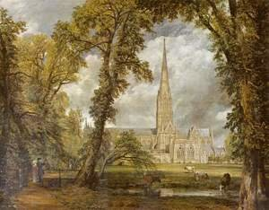 Reproduction oil paintings - John Constable - View of Salisbury Cathedral from the Bishop's Grounds  c.1822