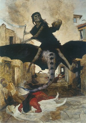 Famous paintings of Devils & Demons: The Plague, 1898