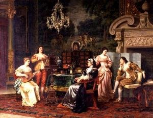 Famous paintings of Furniture: Musical Party
