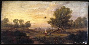 B. Cook reproductions - Balloon Over Woodland c.1840