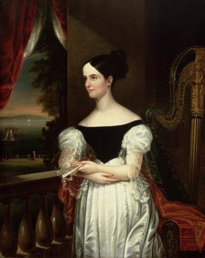 Famous paintings of Fans: Mrs Robert Donaldson (Susan Jane Gaston) 1832