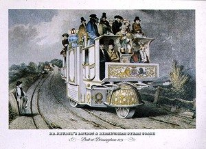Famous paintings of Trams: Dr  Church's London and Birmingham Steam Coach, 1833 (2)