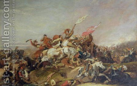 The Battle of Marston Moor in 1644, 1819 by Abraham Cooper - Reproduction Oil Painting