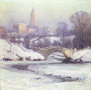 Famous paintings of Winter: Central Park