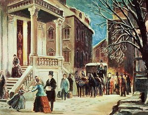 Famous paintings of Christmas: Arrival at the Christmas Party