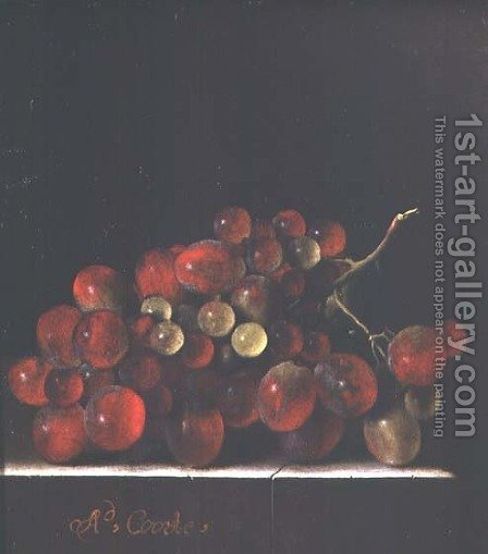 Still Life with Grapes by Adriaen Coorte - Reproduction Oil Painting