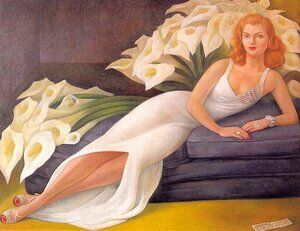 Famous paintings of Furniture: Portrait Of Natasha Gellman 1943