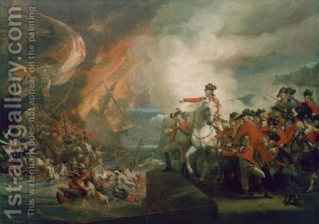 The Defeat of the Floating Batteries at Gibraltar, September 1782, 1783-91 by John Singleton Copley - Reproduction Oil Painting