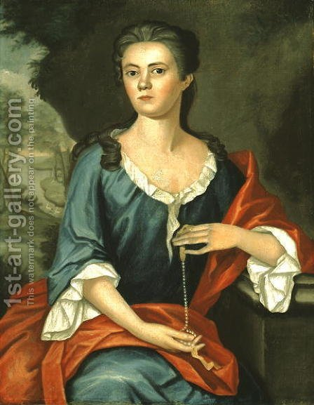 Mrs Joseph Mann (Bethia Torrey) 1753 by John Singleton Copley - Reproduction Oil Painting