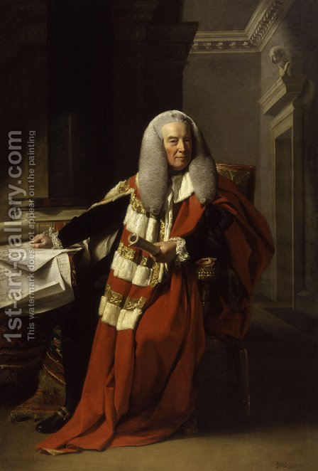 Portrait of William Murray (1705-93), 1st Earl of Mansfield, 1782-83 by John Singleton Copley - Reproduction Oil Painting