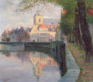 Neo-Classical painting reproductions: Autumn in Bruges