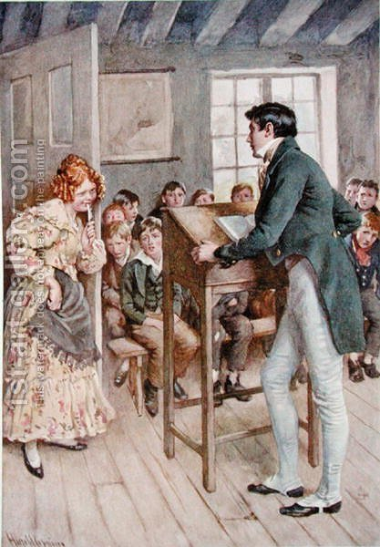 Fanny Squeers and Nicholas Nickleby by Harold Copping - Reproduction Oil Painting
