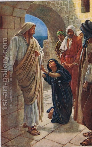 The Woman of Canaan, 1927 by Harold Copping - Reproduction Oil Painting