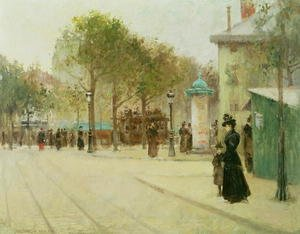 Famous paintings of Trams: Paris, 1892