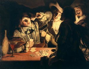 Famous paintings of Furniture: The Card Players c.1620s
