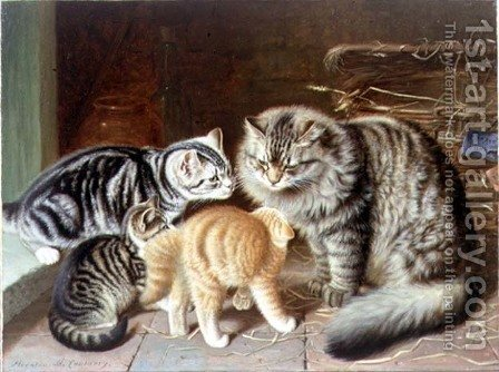The New Arrival by Horatio Henry Couldery - Reproduction Oil Painting
