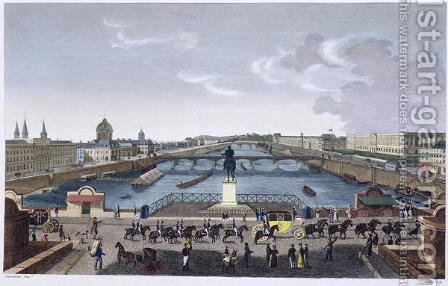 The Pont Neuf. c.1815-20 by Henri  (after) Courvoisier-Voisin - Reproduction Oil Painting