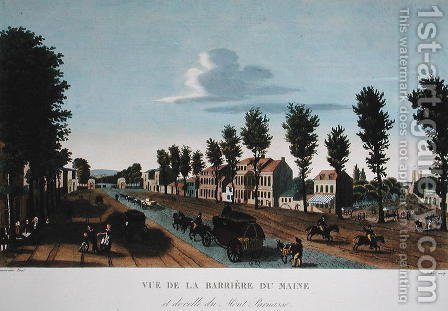 The Barriere du Maine, c.1815-20 by Henri  (after) Courvoisier-Voisin - Reproduction Oil Painting