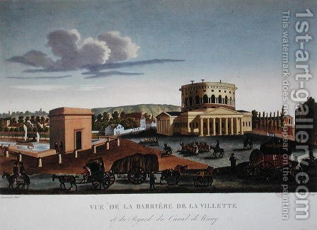 The Barriere de la Villette, c.1815-20 by Henri  (after) Courvoisier-Voisin - Reproduction Oil Painting