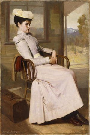 Neo-Classical painting reproductions: Waiting  1896
