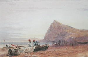 Shakespeare's Cliff, Dover, at Sunset, 1827