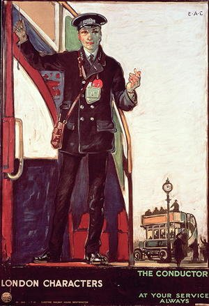 London Characters, The Conductor, Great Britain, 1919