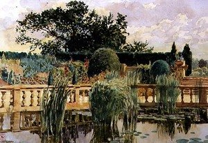Reproduction oil paintings - Walter Crane - The Water Garden, Easton Lodge, near Great Dunmow, Essex, 1909