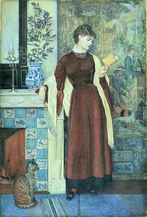 Reproduction oil paintings - Walter Crane - At Home  A Portrait, 1872