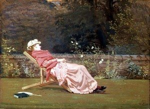 Reproduction oil paintings - Walter Crane - Rosalind, Countess of Carlisle (1845-1921) in the Garden at Naworth, 1880