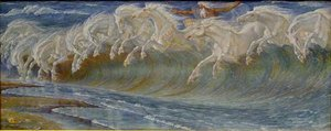 Famous paintings of Domestic Animals: Neptune's Horses, 1892