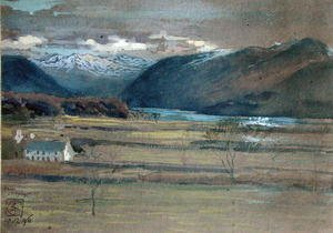 Reproduction oil paintings - Walter Crane - Derwent Water from Crosthwaite 1896