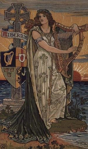 Reproduction oil paintings - Walter Crane - United Ireland, Calendar for 1897, made for Royal Ulster Works, Belfast