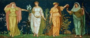 Reproduction oil paintings - Walter Crane - The Seasons