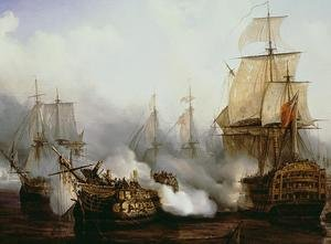 Famous paintings of Landscapes: Battle of Trafalgar  1805