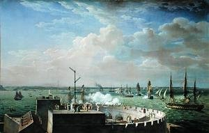 Reproduction oil paintings - Louis Philippe Crepin - Cherbourg Harbour 1822