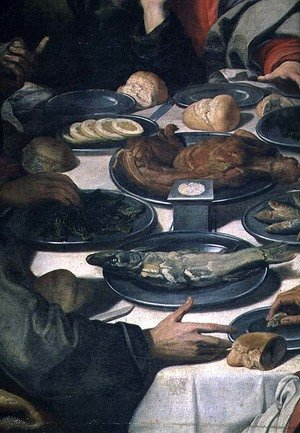 Reproduction oil paintings - Daniele Crespi - The Last Supper, detail of the food (detail)