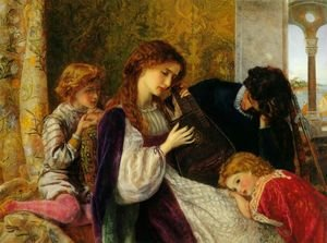 Reproduction oil paintings - Arthur Hughes - A Music Party