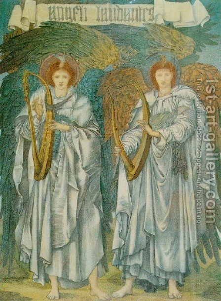 Sir Edward Coley Burne-Jones: Angeli Laudantes - reproduction oil painting