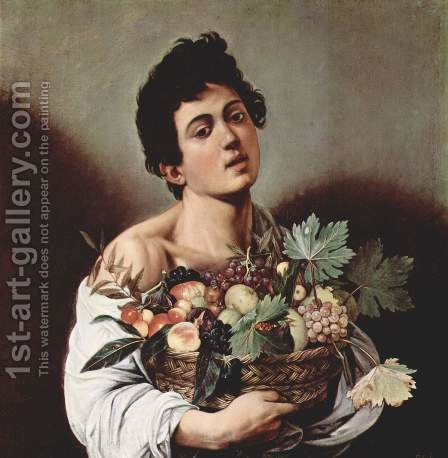 Caravaggio Boy with a Basket of Fruit Reproduction   1st Art Gallery