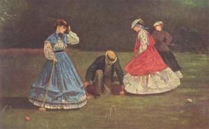 Famous paintings of Sport and Games: Croquet Scene